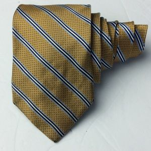 Brooks Brothers Mens Stain Resist Gold Stripe Tie
